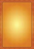 Golden Floral Frame. Floral pattern in golden black frame Royalty Free Stock Image