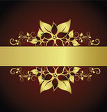 Golden floral frame Royalty Free Stock Images