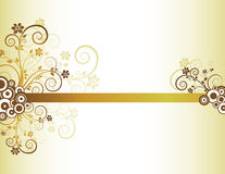 Golden floral frame. With place for text Royalty Free Illustration