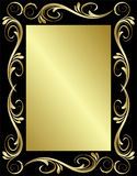 Golden Floral Frame Royalty Free Stock Image