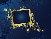 Golden floral frame. For text Vector Illustration