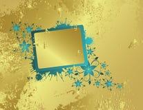 Golden floral frame. For text Stock Illustration