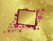 Golden floral frame. For text Royalty Free Stock Photo