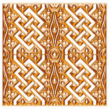 Golden floral ornament brocade textile pattern Royalty Free Stock Photography