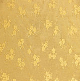 Golden floral ornament brocade textile pattern Stock Photos