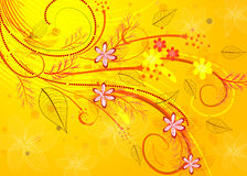 Golden floral pattern Stock Image