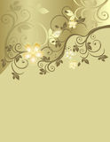 Golden floral pattern Stock Photography