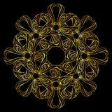 Golden floral pattern Stock Images