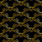 Golden floral pattern Royalty Free Stock Photo