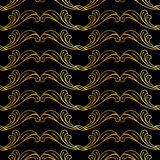 Golden floral pattern Royalty Free Stock Photos
