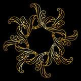 Golden floral pattern Stock Photos