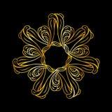Golden floral pattern Stock Image