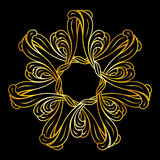 Golden floral pattern Royalty Free Stock Images