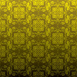 Golden floral repeat Royalty Free Stock Images