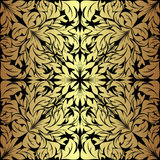 Golden floral seamless Pattern Stock Photos