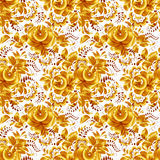 Golden floral vector seamless pattern Stock Photos