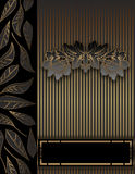 Golden floral vintage background. royalty free stock photos