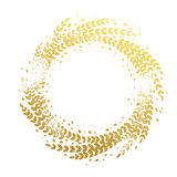 Golden floral wreath decoration ornament for Christmas Stock Photography