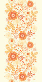 Golden florals vertical border seamless pattern. Vector golden florals elegant vertical border seamless pattern background stock illustration