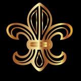 Golden flour de lis Royalty Free Stock Images