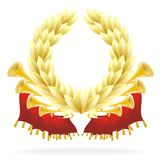 Golden flourish with a laureate wreath Royalty Free Stock Photo