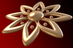 Golden flower. With clipping path vector illustration