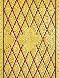 Golden flower carving Stock Photo