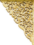 Golden flower carving Stock Images