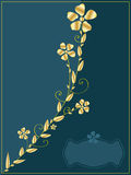 Golden flower Invitation_eps Royalty Free Stock Photo