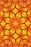 Golden flower kaleidoscope wallpaper pattern Royalty Free Stock Images