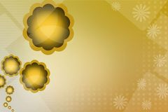 golden flower left side, abstract background Stock Photography