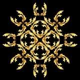 Golden flower pattern Stock Photography
