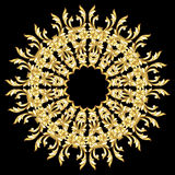 Golden flower pattern Royalty Free Stock Photography