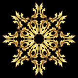 Golden flower pattern Royalty Free Stock Images