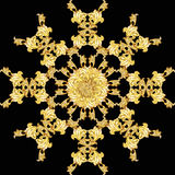 Golden flower pattern Stock Photos