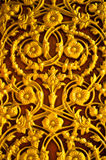Golden flower pattern on the door Stock Images