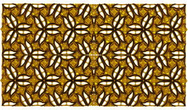 Golden flower pattern wallpaper background Stock Image