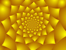 Golden flower petals. Abstract Background pattern, generated from a fractal design Stock Illustration