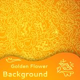 Golden flower seamless background. Royalty Free Stock Photo
