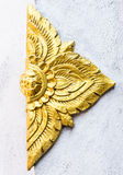 Golden flower stucco Stock Image