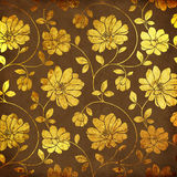 Golden flowers Stock Photos