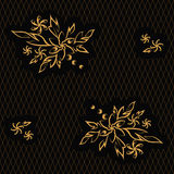 Golden flowers Royalty Free Stock Photo