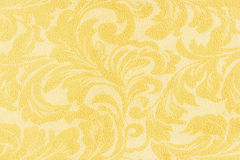 golden flowers on fabric texture  for background Royalty Free Stock Photography