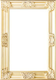 Golden Flowers Photo Frame Royalty Free Stock Photos
