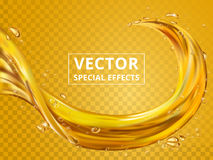 Golden fluid element Stock Images