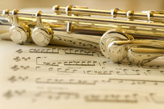 Golden Flute Stock Photography