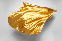 Golden flying fabric Stock Image