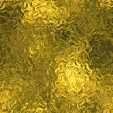 Golden Foil Seamless And Tileable Luxury Background Texture. Glittering Holiday Wrinkled Gold Background. Royalty Free Stock Images
