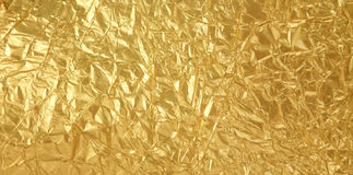 Golden foil texture Royalty Free Stock Photos
