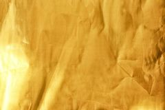 golden foil texture background. Royalty Free Stock Photo